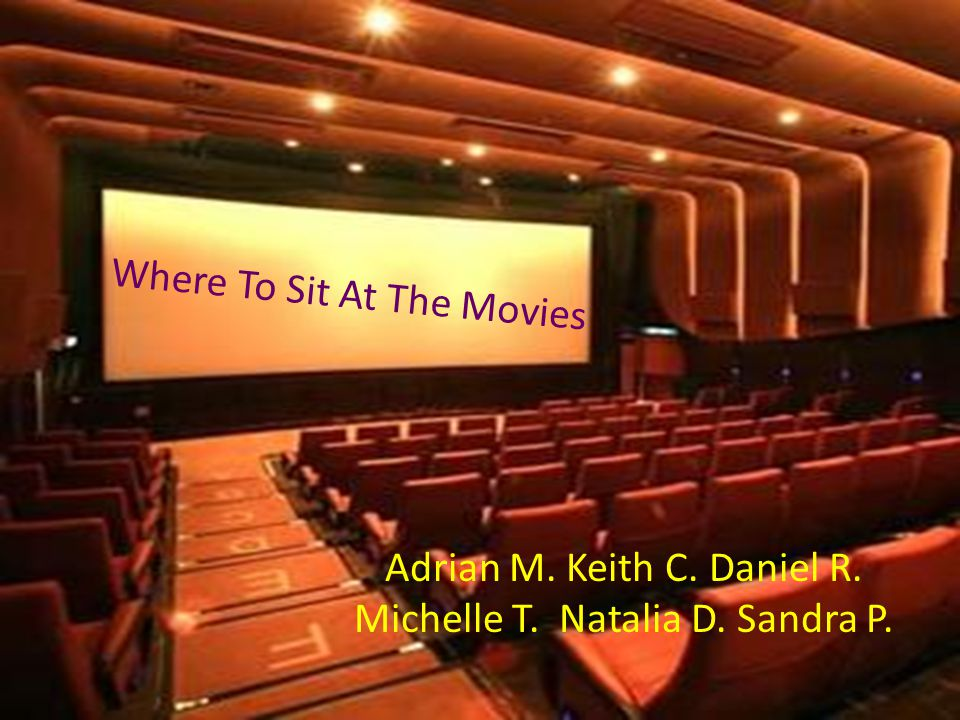 Where To Sit At The Movies