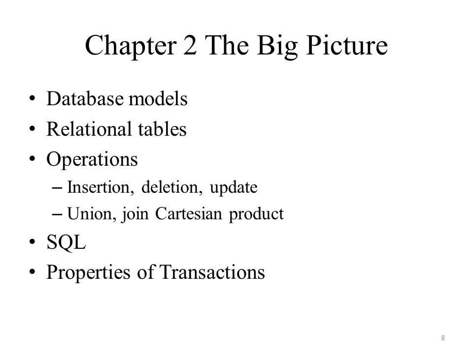 Chapter 2 The Big Picture