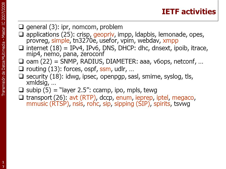 IETF activities general (3): ipr, nomcom, problem
