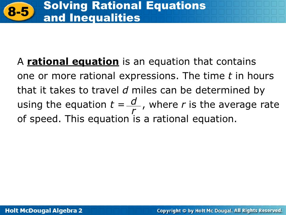 Solving Rational Equations And Inequalities Ppt Download