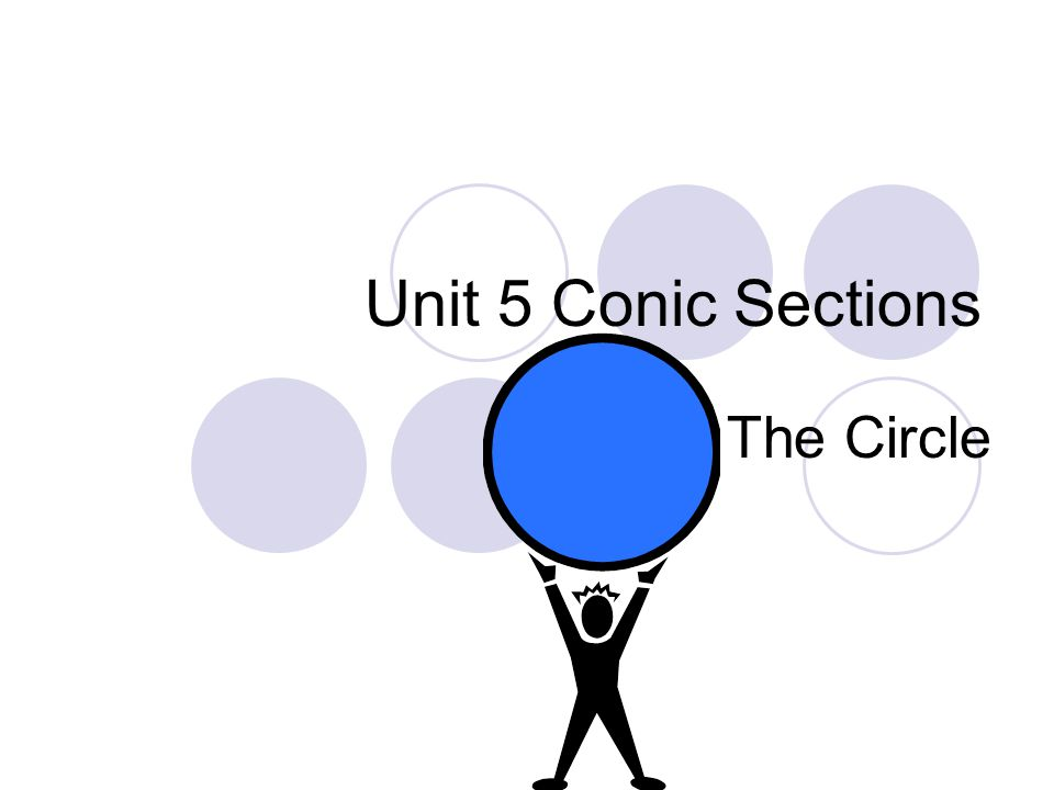 Unit 5 Conic Sections The Circle