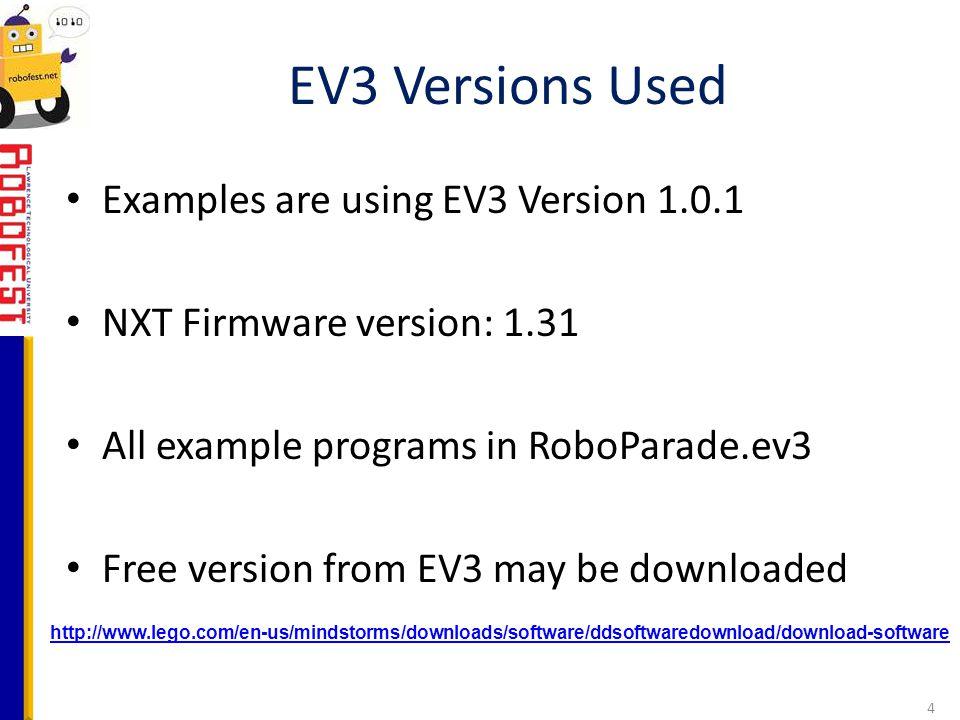 EV3 Workshop Curriculum Developed by Joe DeRose, Ph D  - ppt