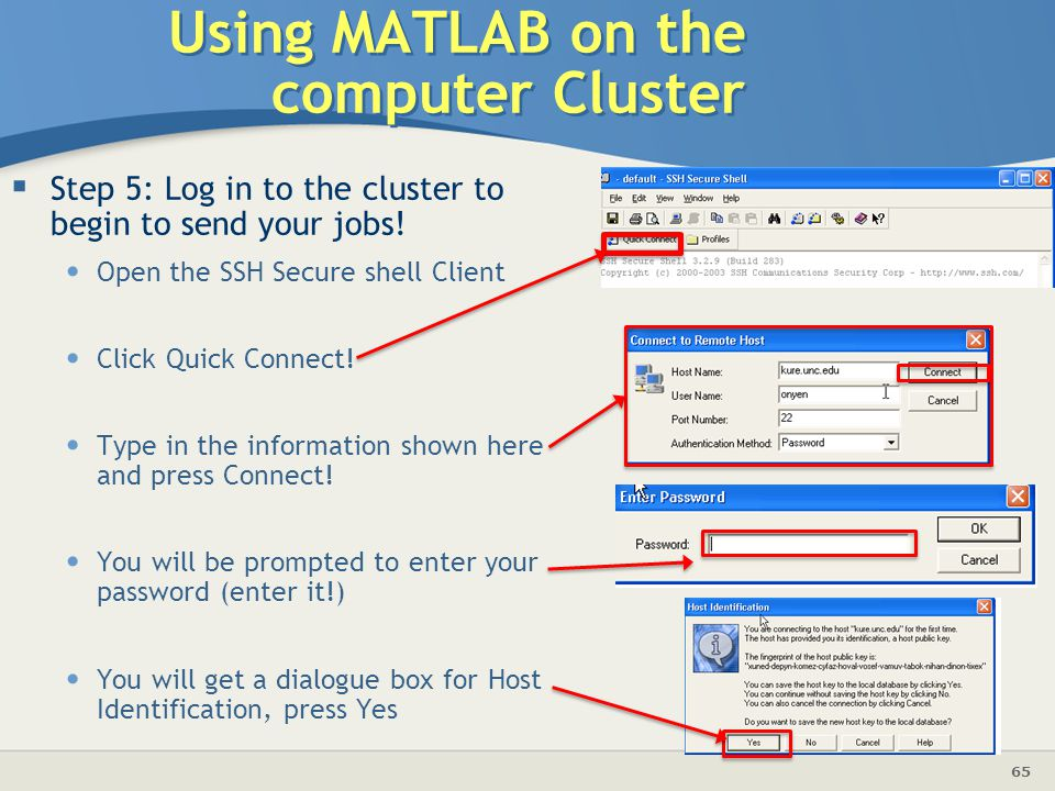 Using MATLAB on the computer Cluster