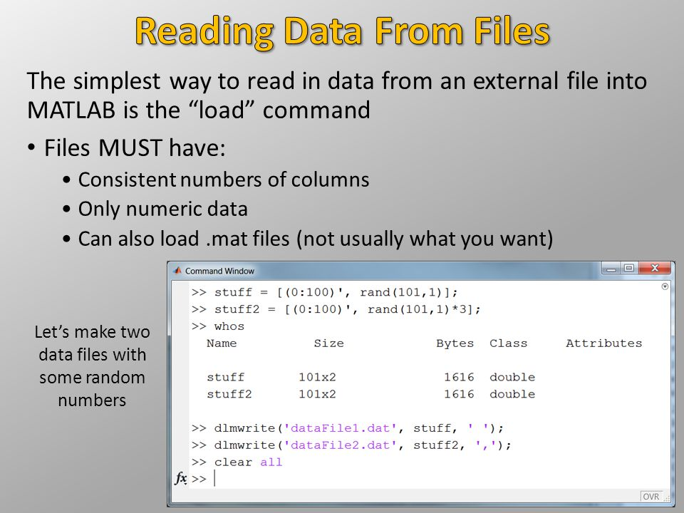 Reading Data From Files