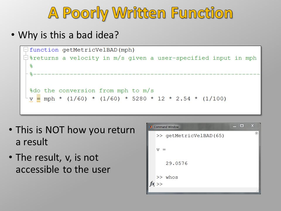 A Poorly Written Function