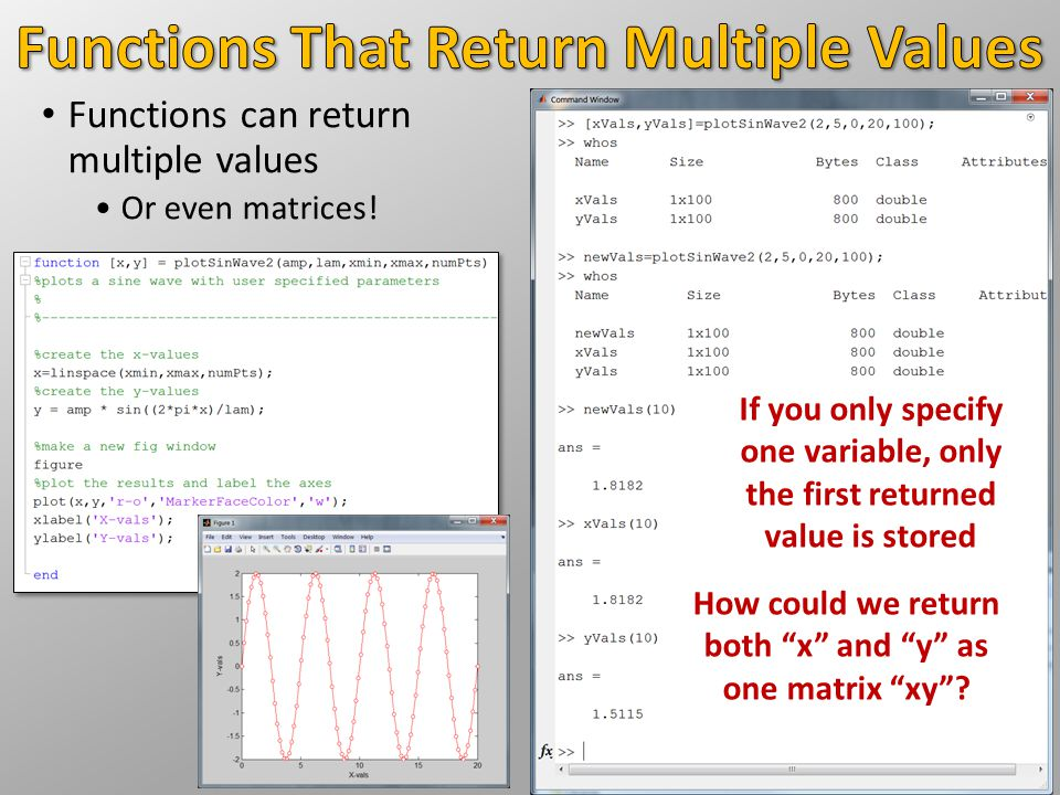 Functions That Return Multiple Values