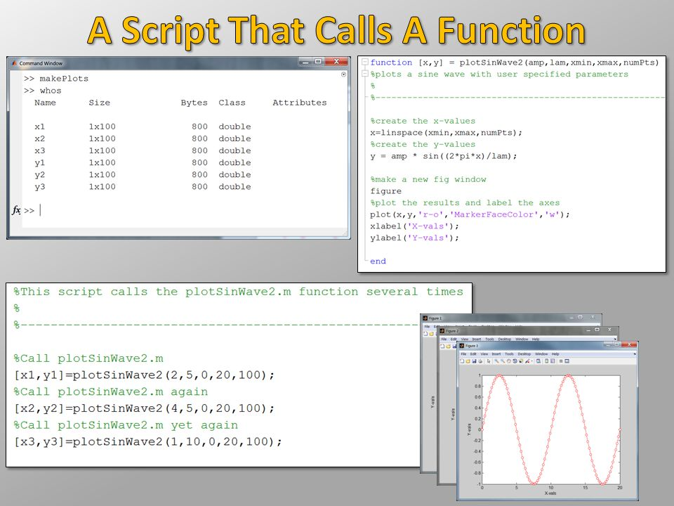 A Script That Calls A Function