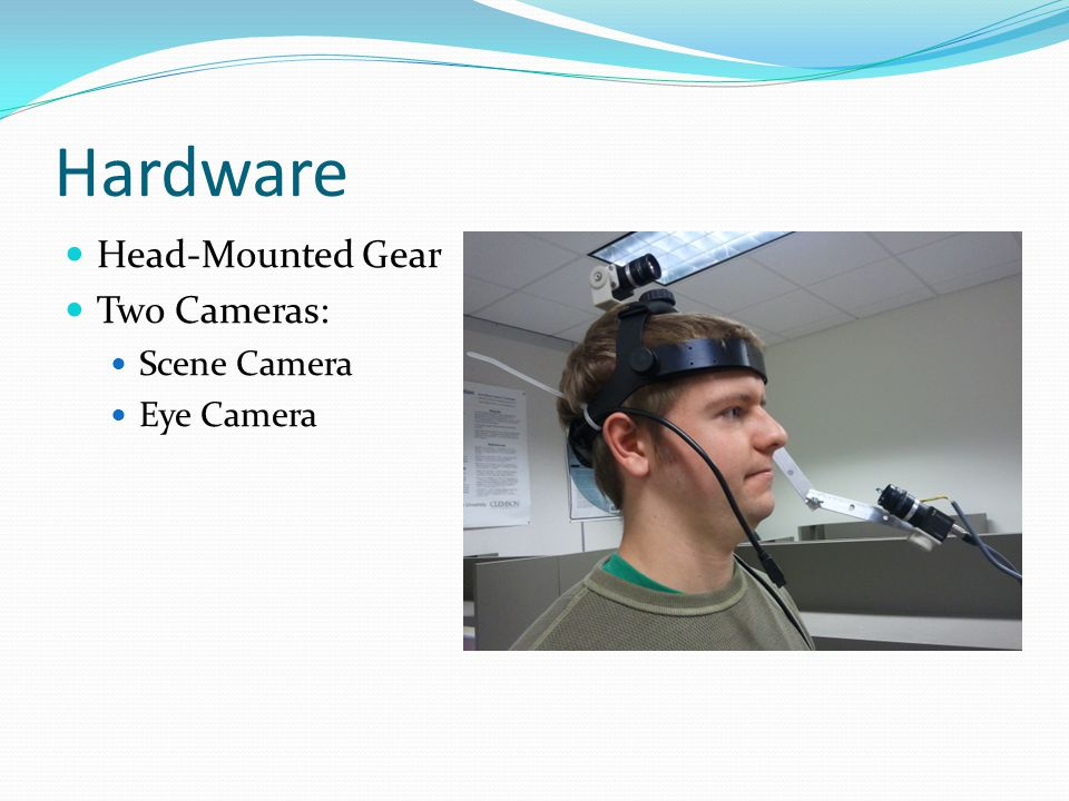 Hardware Head-Mounted Gear Two Cameras: Scene Camera Eye Camera