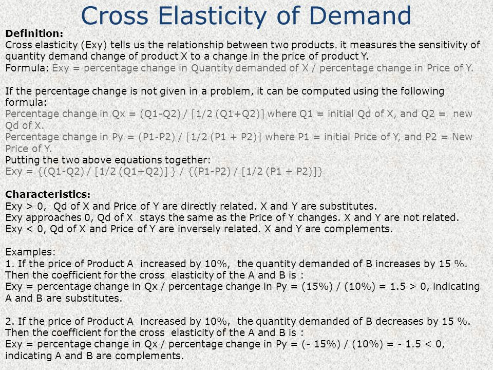 Price Income And Cross Elasticity Ppt Video Online Download