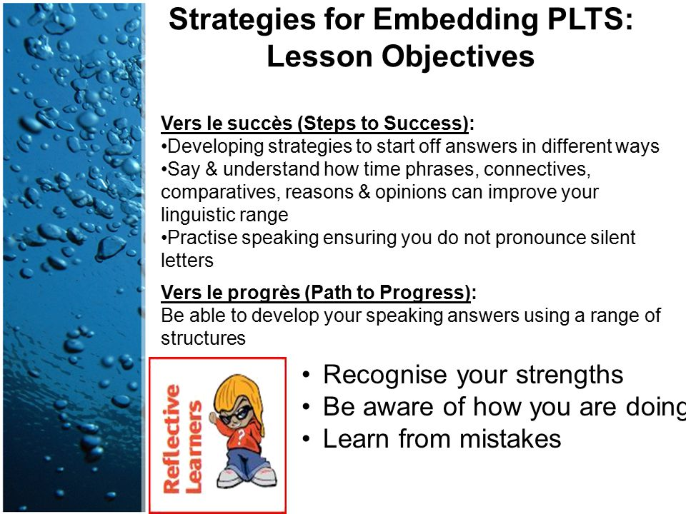 Strategies for Embedding PLTS: