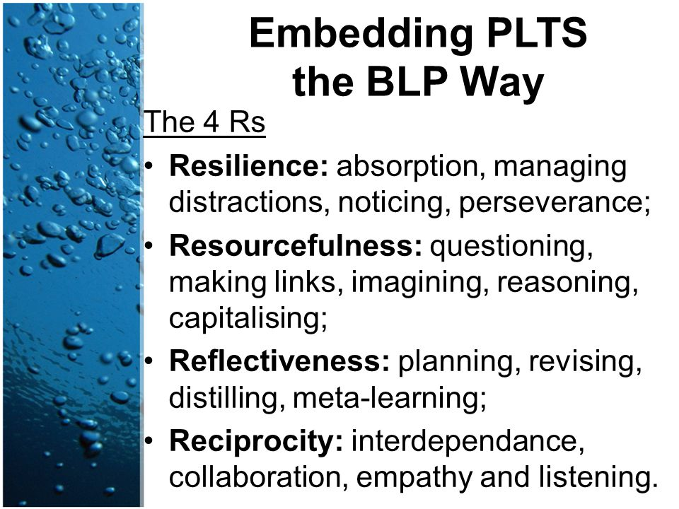 Embedding PLTS the BLP Way