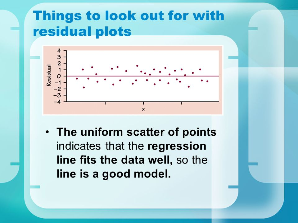 Things to look out for with residual plots