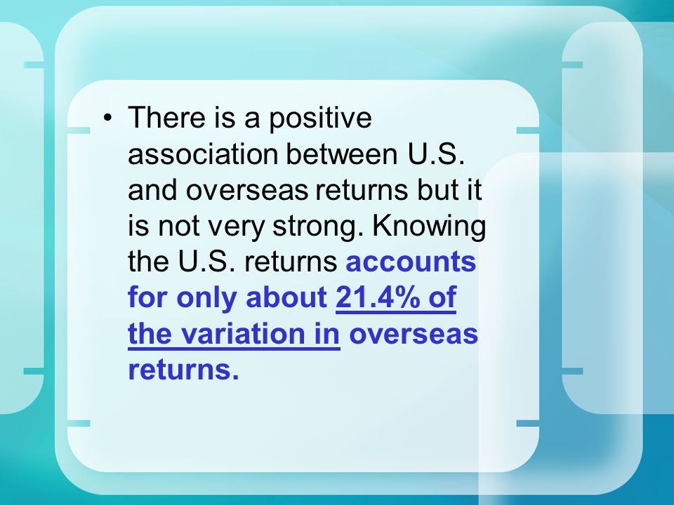 There is a positive association between U. S