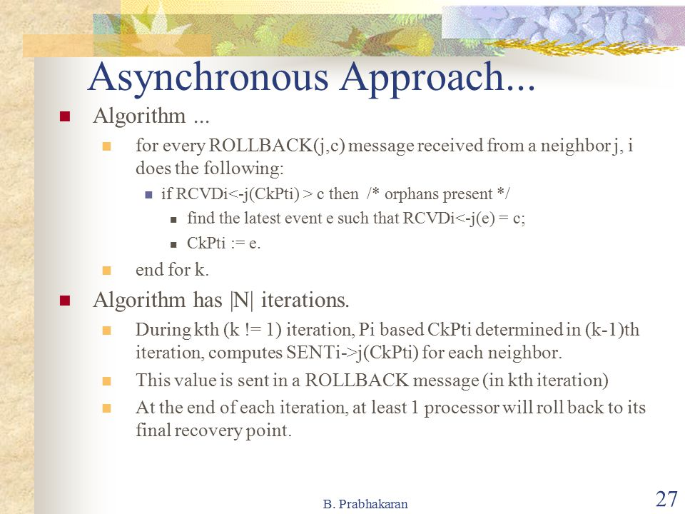 Asynchronous Approach...