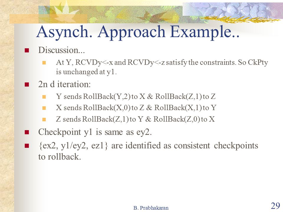 Asynch. Approach Example..