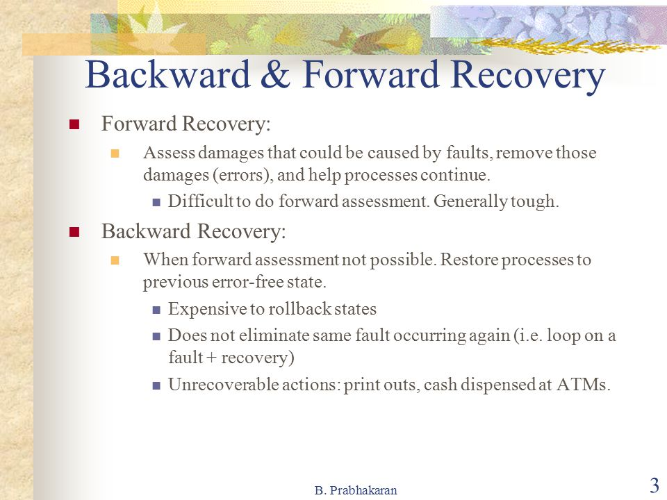 Backward & Forward Recovery