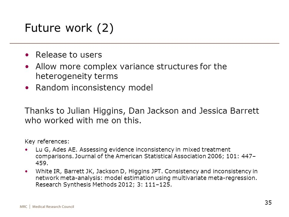 Future work (2) Release to users