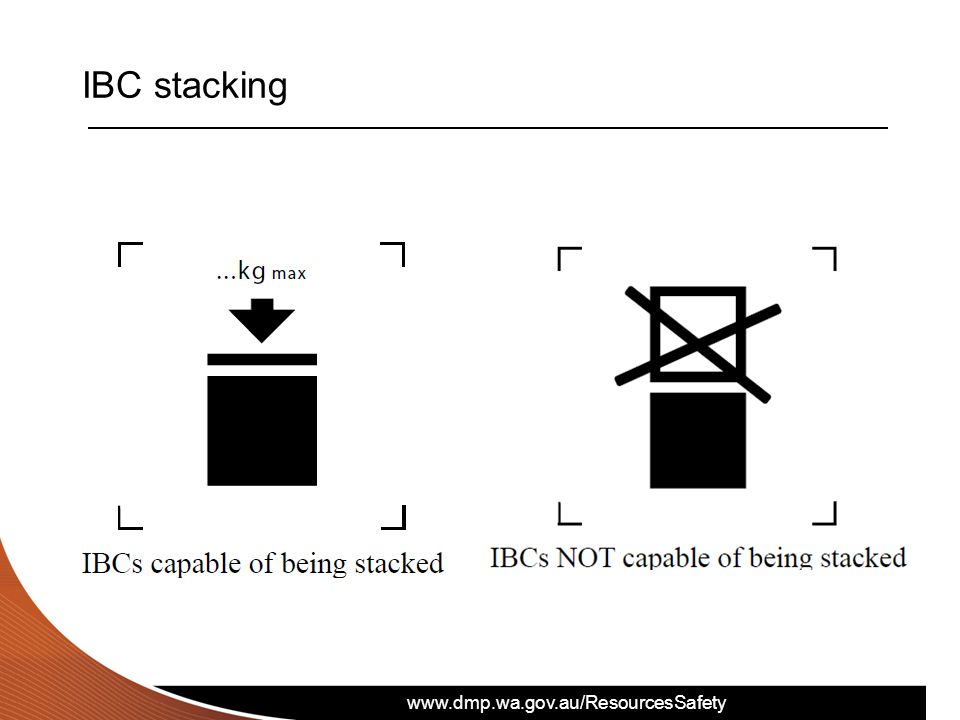 IBC stacking Be careful when stacking IBCs – some must not be stacked!
