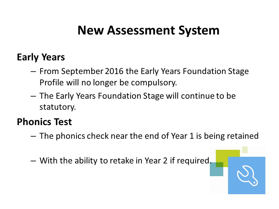 New Assessment System Early Years Phonics Test