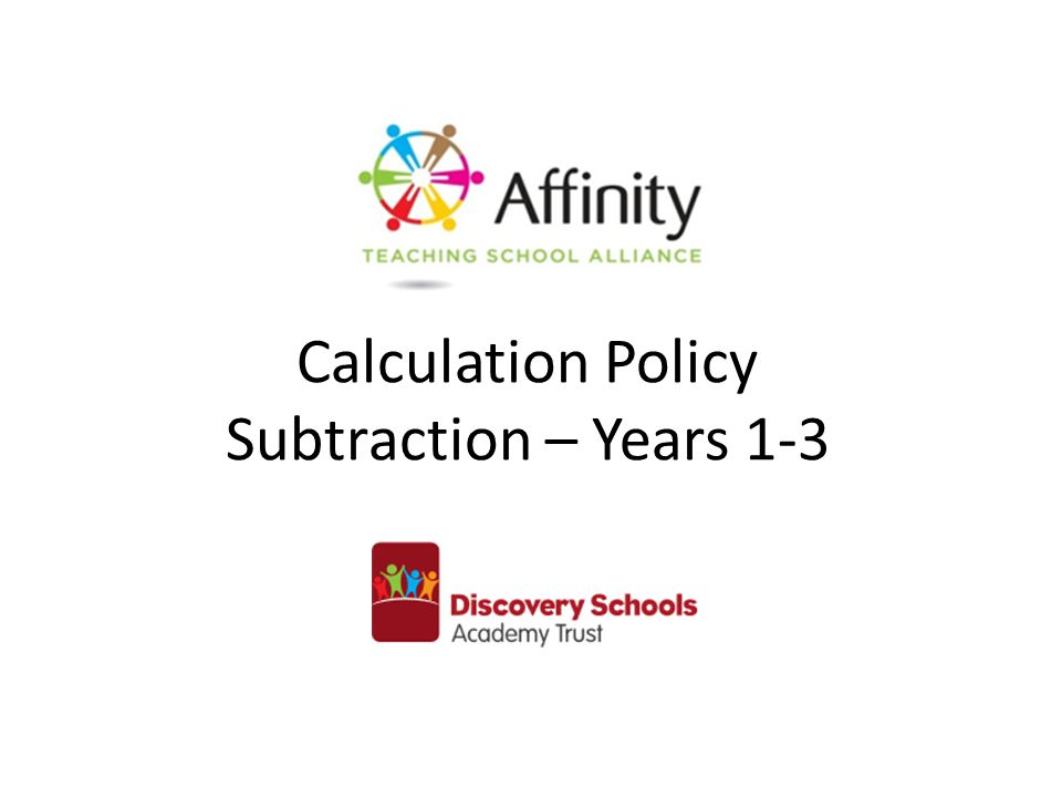 Calculation Policy Subtraction – Years 1-3