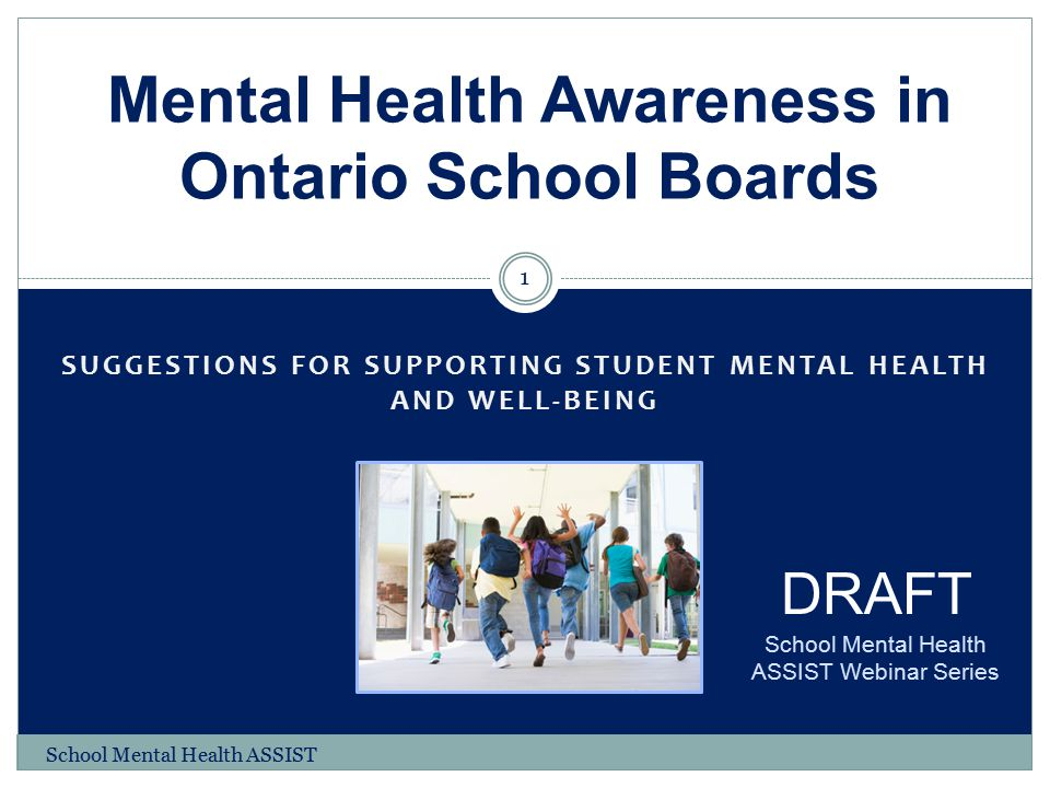 Mental Health Awareness in Ontario School Boards