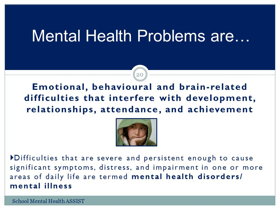 Mental Health Problems are…