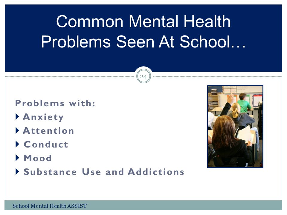 Common Mental Health Problems Seen At School…