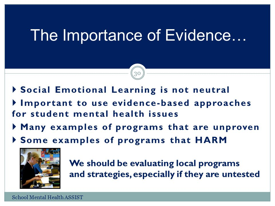 The Importance of Evidence…