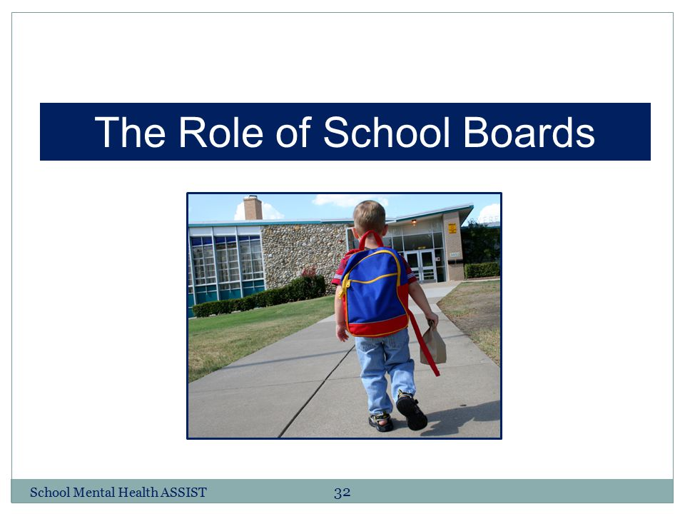 The Role of School Boards
