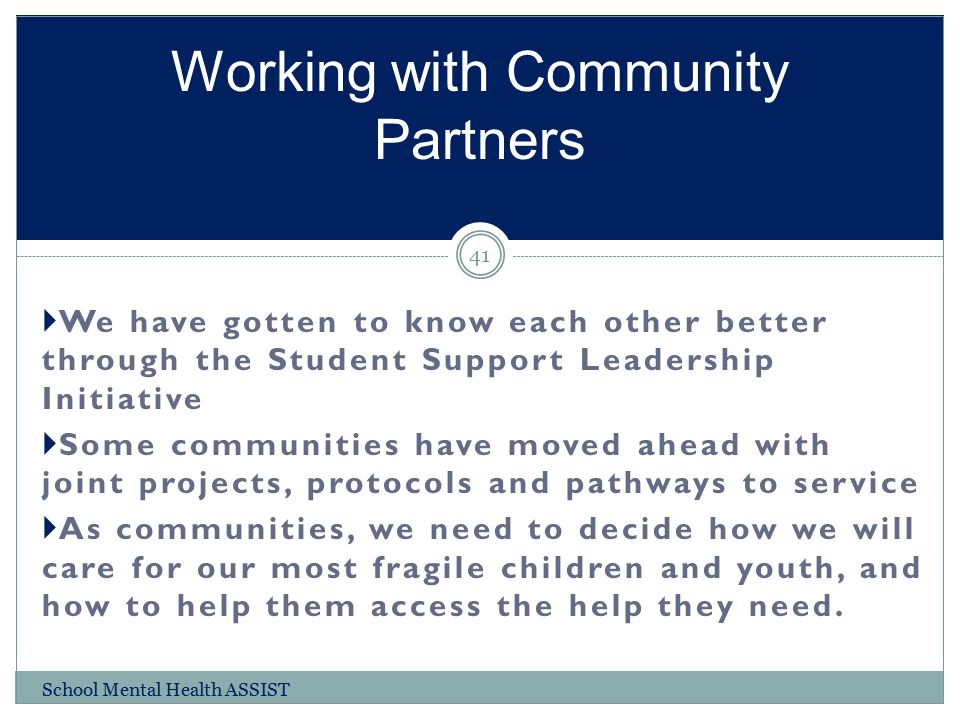 Working with Community Partners