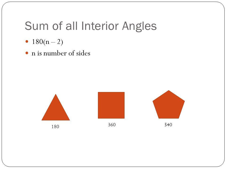 Sum of all Interior Angles