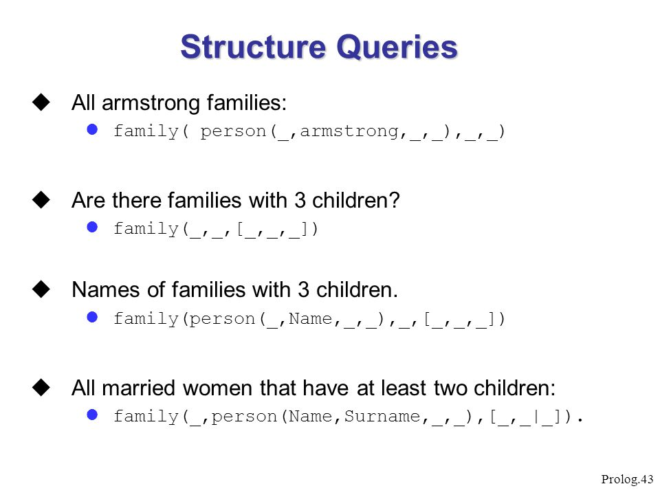 Structure Queries All armstrong families: