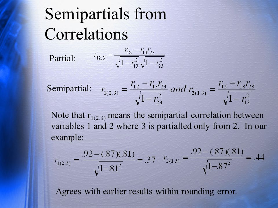 Partial and Semipartial Correlation - ppt video online download