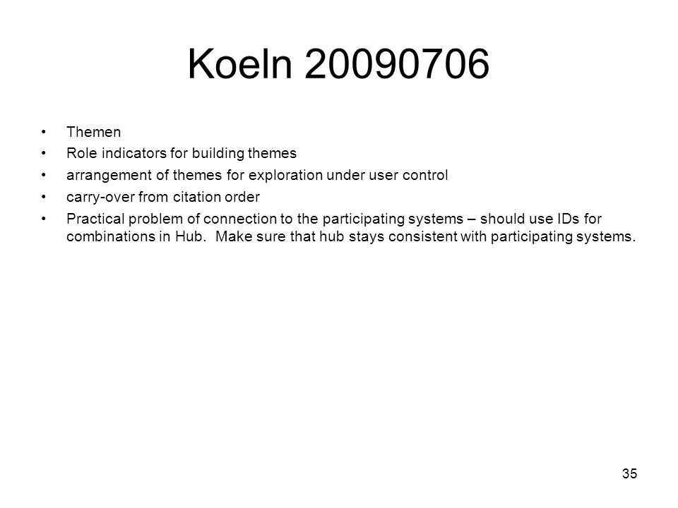 Koeln Themen Role indicators for building themes