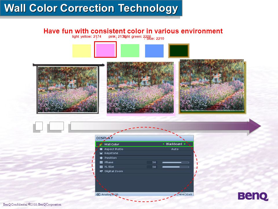 Wall Color Correction Technology