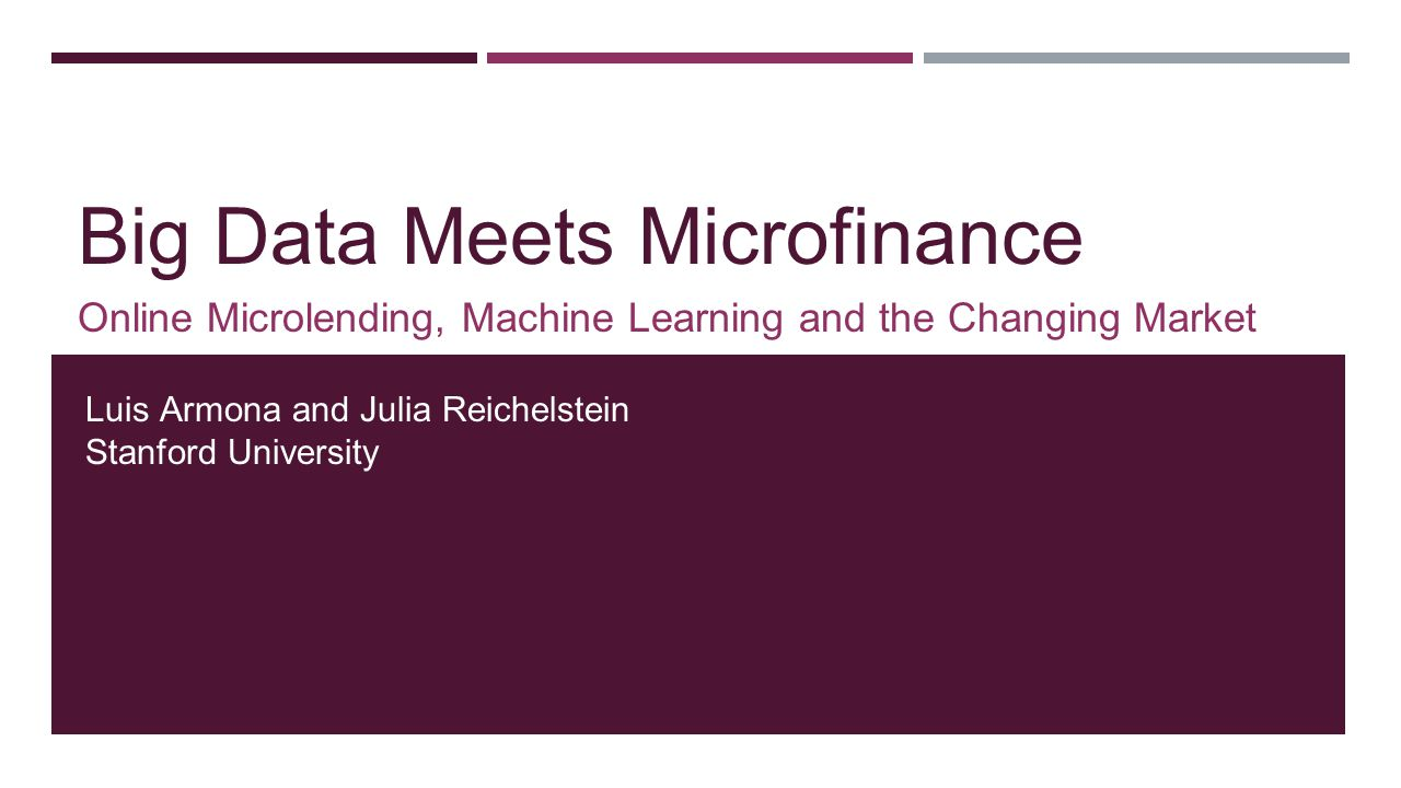 Big Data Meets Microfinance