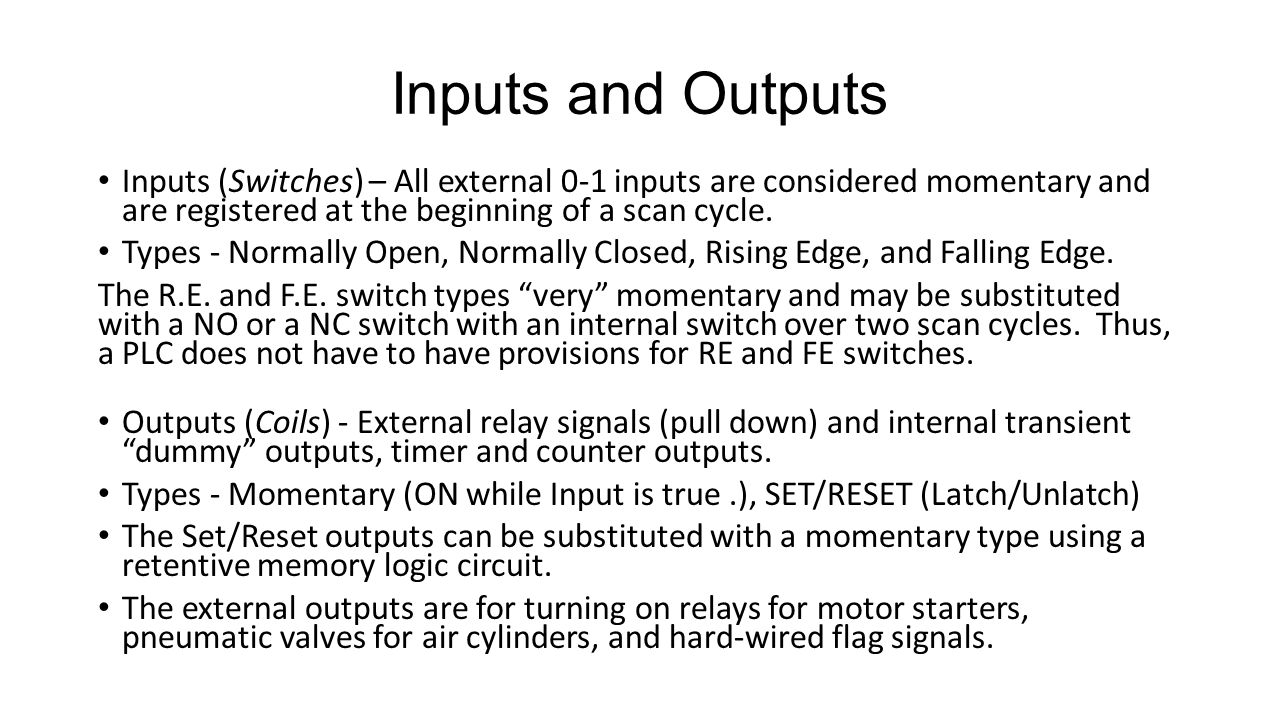 ME192 Special Lecture Programmable Logic Controllers In Support of ...