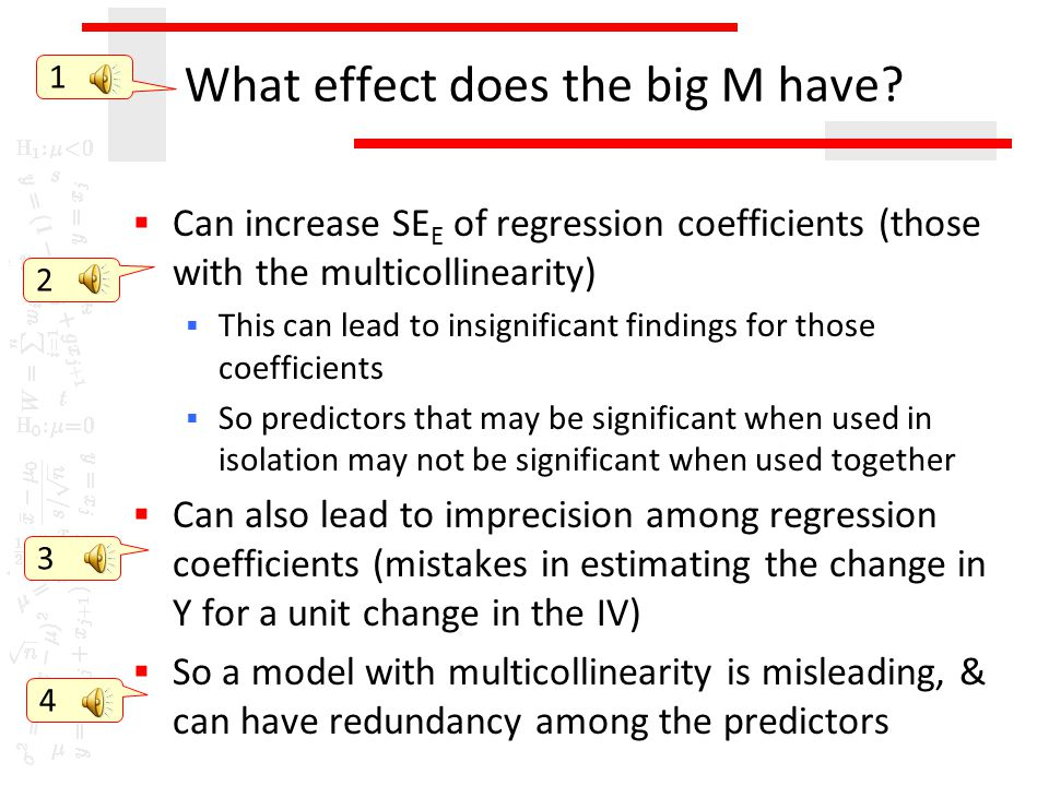 What effect does the big M have