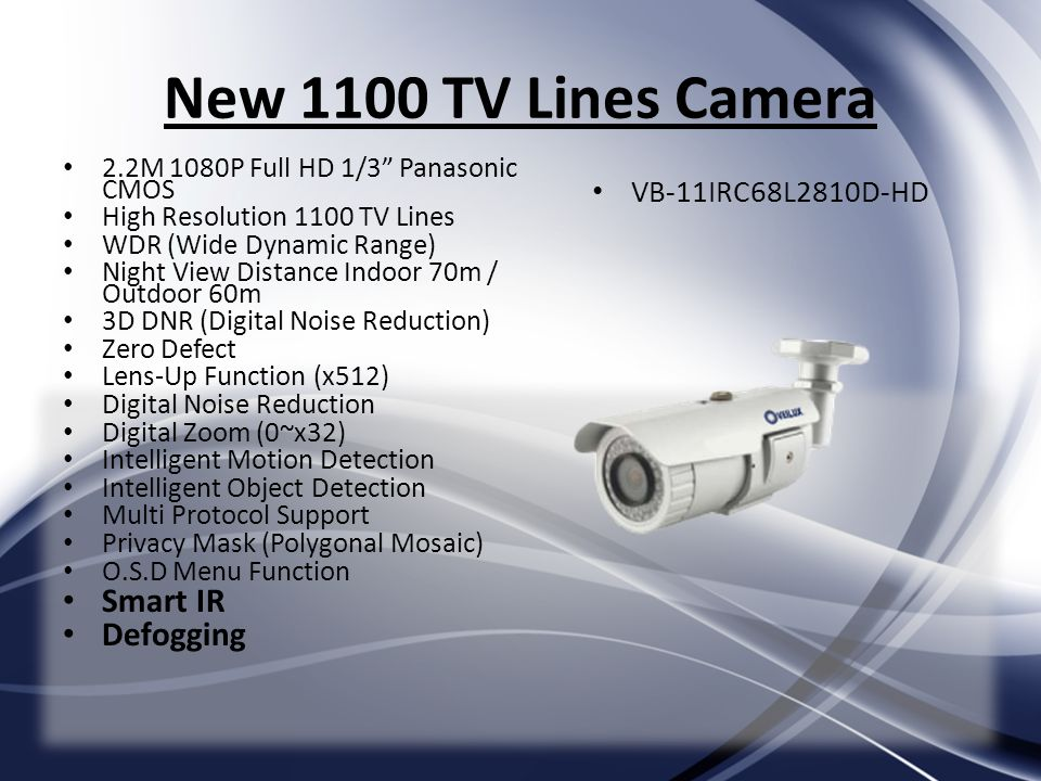 New 1100 TV Lines Camera Smart IR Defogging VB-11IRC68L2810D-HD