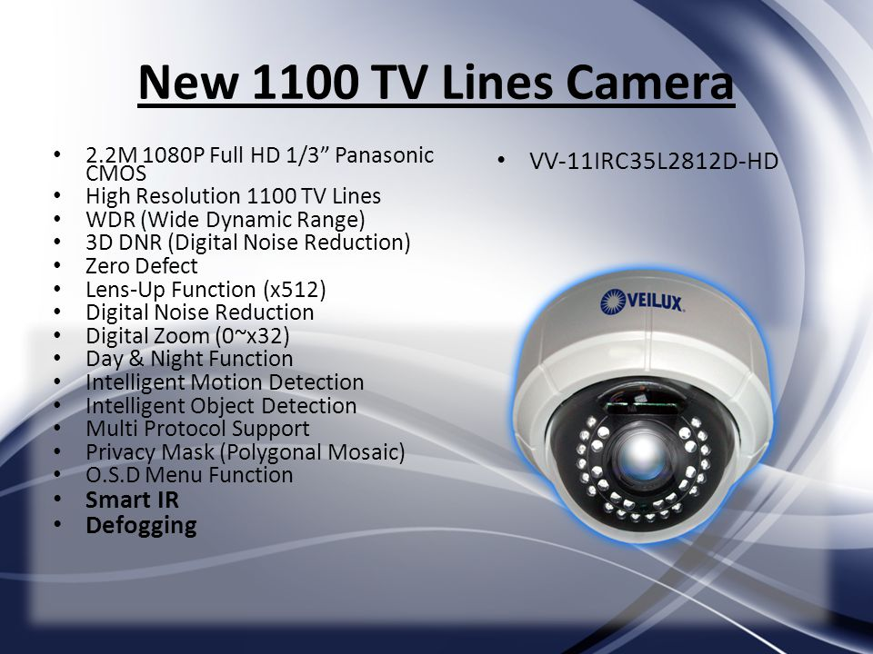 New 1100 TV Lines Camera VV-11IRC35L2812D-HD Smart IR Defogging