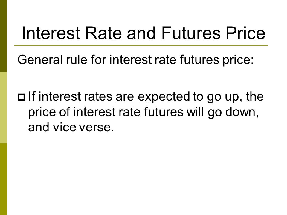 Interest Rate and Futures Price