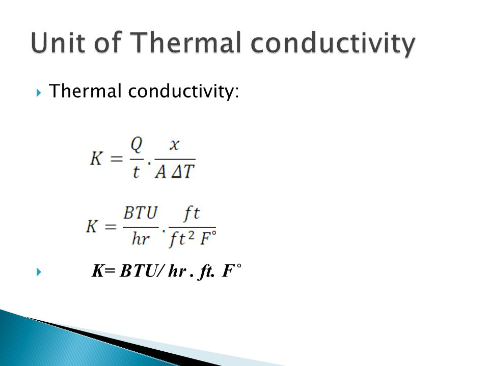 Unit of Thermal conductivity