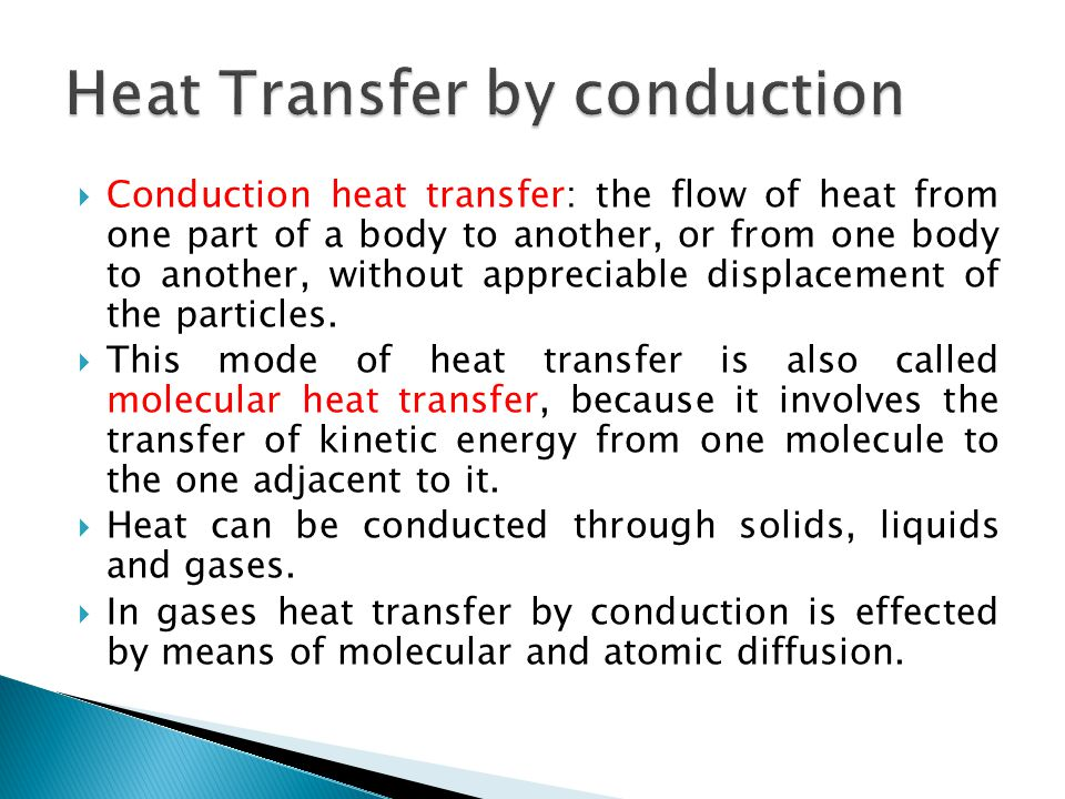 Heat Transfer by conduction