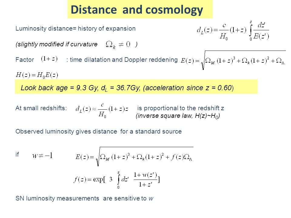 Distance and cosmology
