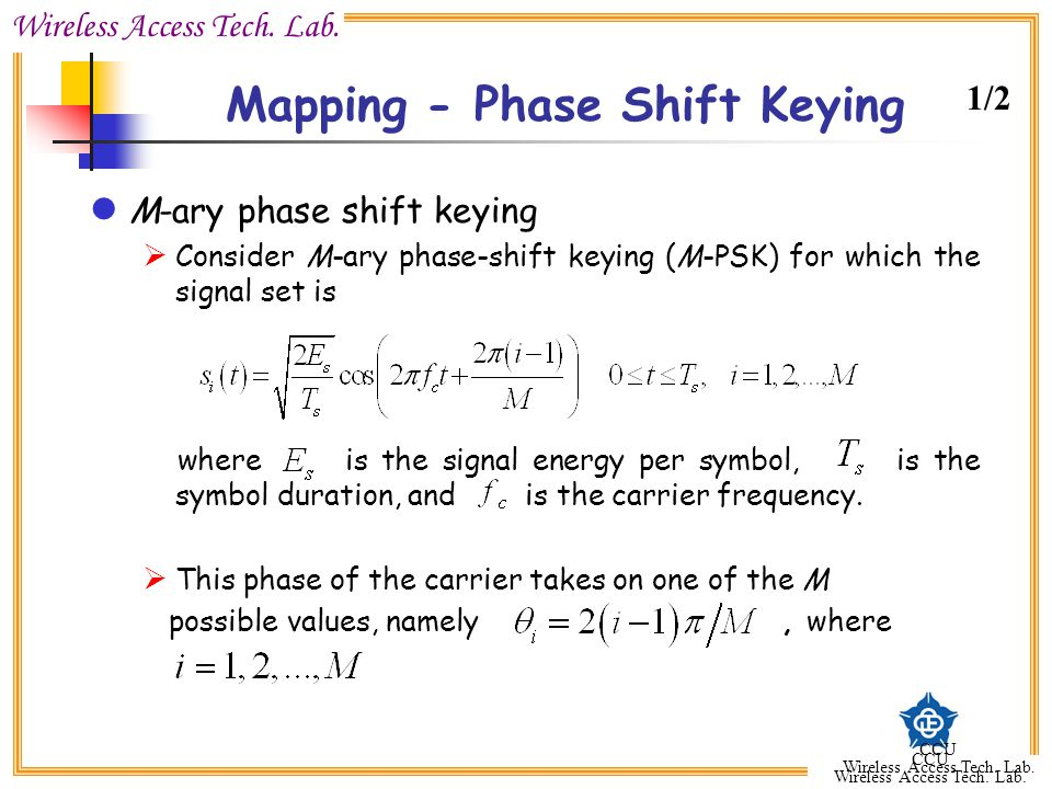 Mapping - Phase Shift Keying
