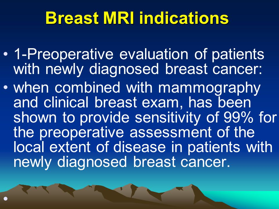 Breast MRI indications
