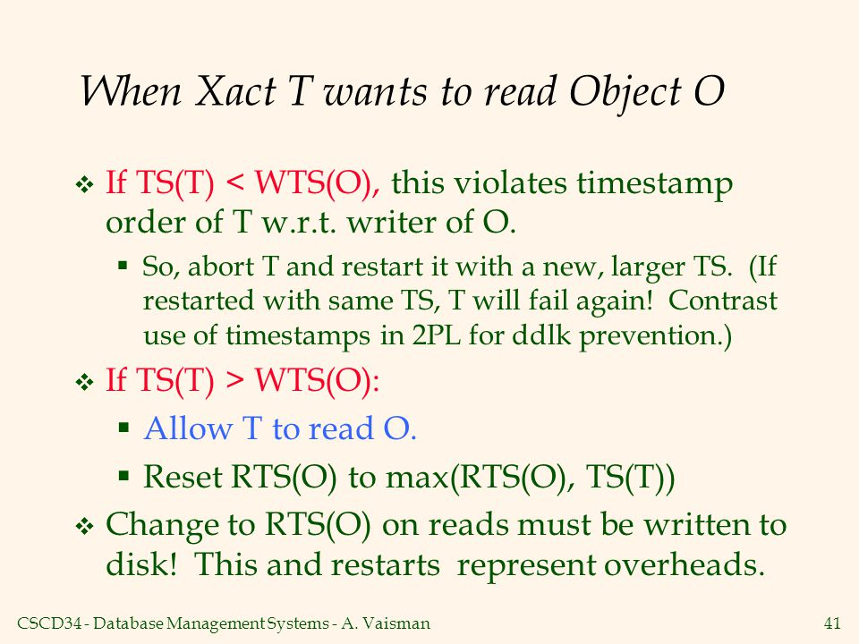 When Xact T wants to read Object O