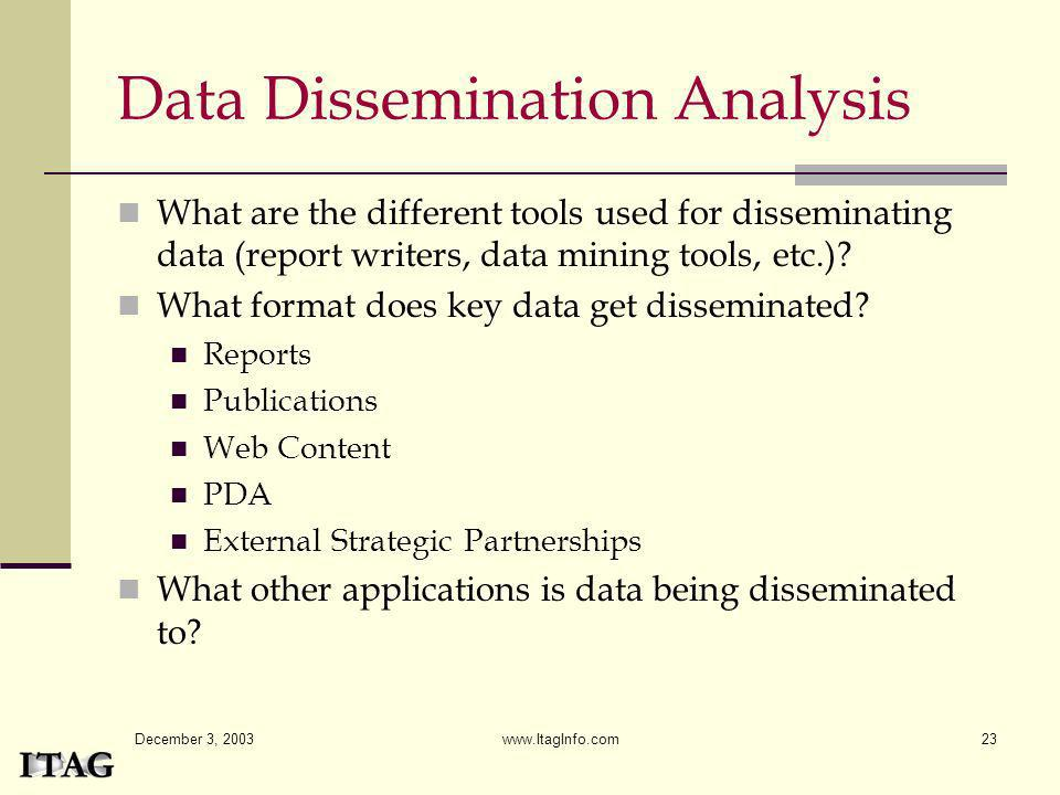 Data Dissemination Analysis