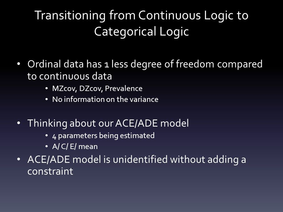 Transitioning from Continuous Logic to Categorical Logic