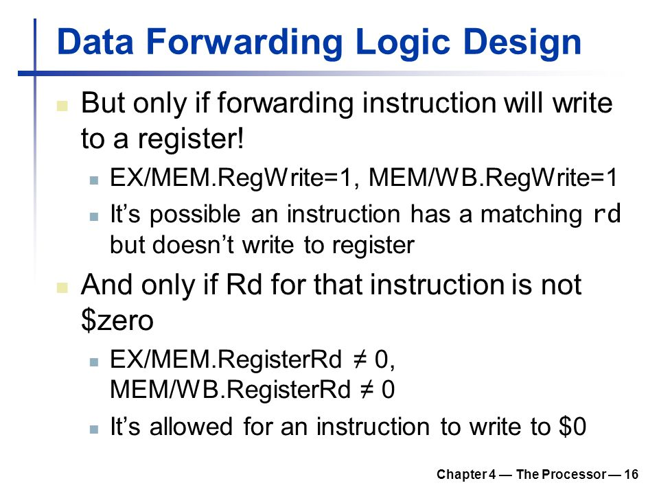 Data Forwarding Logic Design